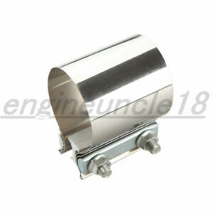 Us Stock 2 Inch Stainless Steel Exhaust Muffler Pipe Flat Band Clamp