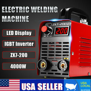 220v 10 200a 4000w Handheld Mma Igbt Inverter Electric Arc Welding Machine Tool