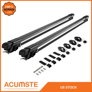 54 Universal Roof Rack Car Suv Top Crossbar Luggage Cross Bars Square Carrier