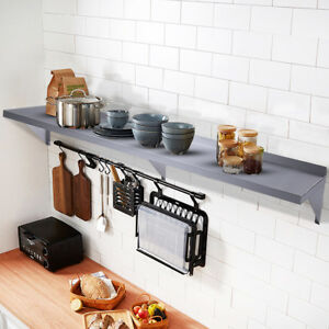 12 x72 stainless Steel Restaurant Bar Cafe Kitchen Floating Wall Mount Shelf