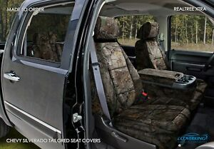 Coverking Realtree Xtra Camo Custom Front Seat Covers For Chevy Silverado
