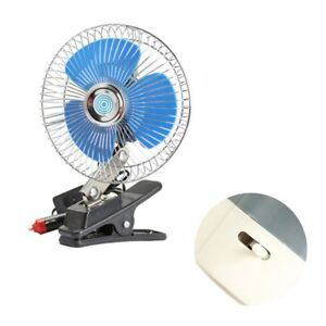 12v Vehicle Car Oscillating Fan Portable Dashboard Clip On Cooling Fan For Boats