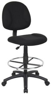 Rolling Work Shop Stool Office Medical Swivel Chair Adjustable Seat Foot Rest