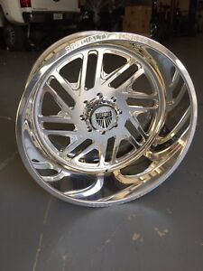 24x12 Specialty Forged Wheels Rims 8x180 Chevy Gmc 2500hd In Stock Ships Today