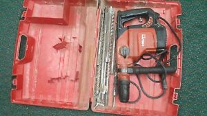 Hilti Te56 Rotary Hammer Drill Kit With Storage Case 9 Bits Fast Free Ship