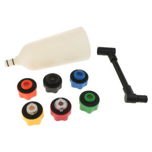 8pcs Car Truck Engine Oil Filler Funnel With 6 Adapter Automotive Tools