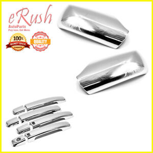 Chrome Combo Set For 2007 2012 Nissan Altima Mirror Handle W Smart Key Cut