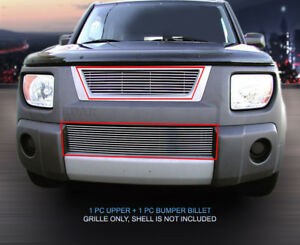 Polished Billet Grille Grill Combo Fits 2003 2006 Honda Element