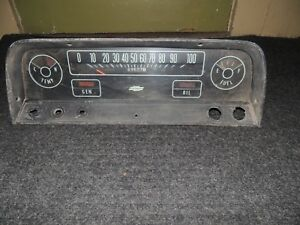 Vintage Chevy Truck Dash Instrument Panel Cluster Gauges