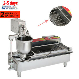 Commercial Automatic Electric Donut Making Machine Donut Fryer 3 Outlet 6000w Us