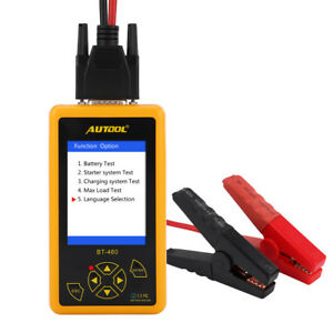Bt460 12v 24v Load Battery Tester Digital Car Battery Analyzer Multi Language Ce