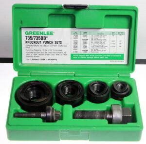 Greenlee 735bb Ball Bearing Knockout Punch Set Mint