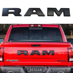 1set Dodge Ram 1500 Tailgate Ram Emblems Letters For Ram 2015 2018 Matte Black