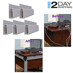 Desk Cables Manager Set Wide Power Cords Wall Organizer Office Accessories