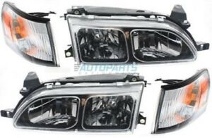 New Right Left Head Lamp Assemblies Fits 1993 1997 Toyota Corolla To2505107