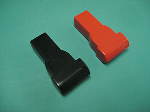 Top Terminal Battery Post Cable Cover Set Red Black Protector Boots