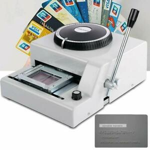 72 Letter Embossing Machine Embosser Id Vip Credit Card Manual Stamping Printer