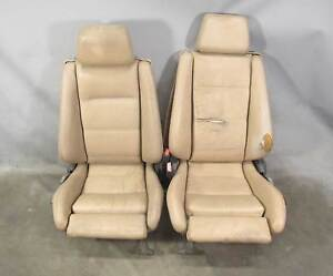 1987 1993 Bmw E30 3 Series Convertible Factory Front Sports Seats Beige Leather