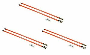 6 Universal 36 Orange Snow Plow Blade Markers Guides For Boss Meyer Western