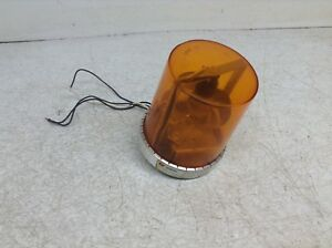 Federal Signal 121s Vitalite Amber Orange Rotating Beacon Safety Light 110 Vac