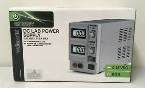 Velleman Labps1503u Dc Lab Power Supply 0 15 Vdc 0 3 A Max With Dual Lcd