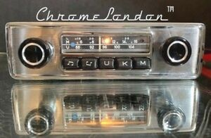 Blaupunkt Essen Vintage Chrome Classic Car Fm Radio Mp3 Mint 1 Year Warranty