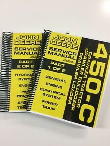 John Deere 450c 450 c Crawler Dozer Loader Service Manual Tm 1102 650 Pages