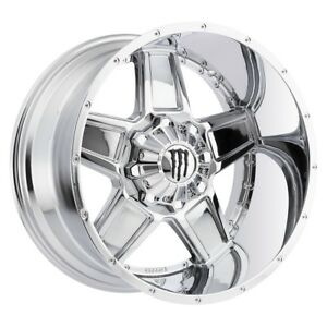 2 New 20x9 Monster Edition 543c Chrome Wheels Rims 18 8x6 50
