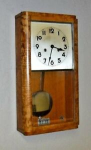 Antique Junghans Tik Tak 1101 8 Day Chime Wall Clock Regulator Working P37 W277