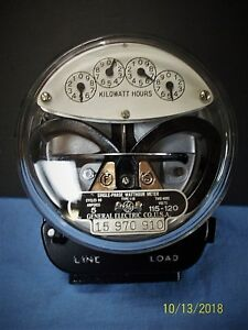 Vintage 1931 General Electric Type I 16 5 Amp 115 120 Volt Residential Meter