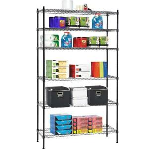 6 Tier Wire Shelving Unit Heavy Duty Metal Nsf Organizer Height Adjustable Rack