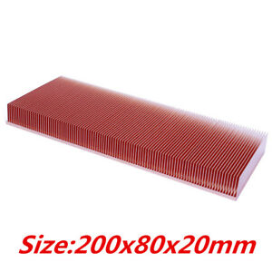 Diy Pure Copper Heatsink 200x80x20mm Sink Radiator Electronic Chip Led Cooler