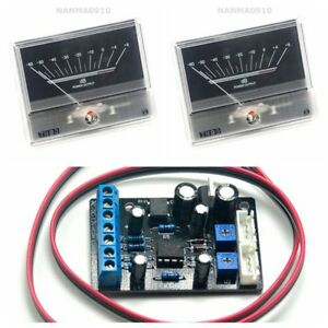 2pcs Tn90 Vu Meter Db Level Header W 1pc Power Supply Driver Board Ta7318p