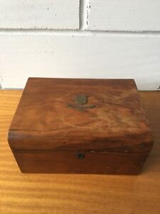 Antique Victorian Needle Work Box Dated 1896 For Repair Restoration