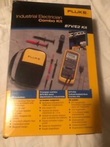 Fluke 87v e2 True Rms With Digital Multimeter W temp Electrician Combo Kit