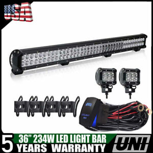 36inch 234w Cree Led Light Bar Flood Spot Combo Driving Lamp Offroad Truck Atv