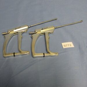 Dyonics Arthroscopic Suction Punch Set Of Right And Left 3196 3197
