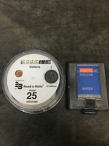 Badger Model 25 Water Meter Pulse Register And Remote Package Gallons