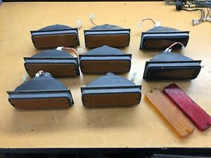 Vintage Whelen Amber 500 Series Halogen Lamps Traffic Advisor Plus Lenses