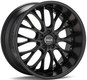20 Inch Helo 890 Black Mf 4 Wheels 4 Tires 5x4 5 5x114 3 Camry Avalon
