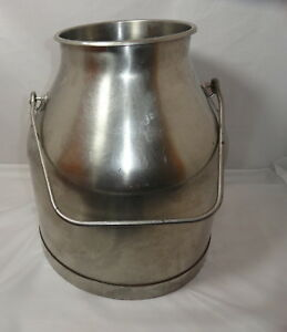 Vintage Delaval 5 Gallon Milk Cream Pail Bucket Can Stainless Steel Dairy