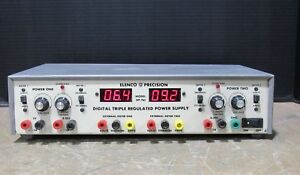 Elenco Precision Xp 765 Digital Triple Regulated Adjustable Power Supply Tested