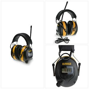 Digital Am Fm Hearing Protector Dewalt Radio Dpg15 Earmuffs Mowing Work Headphon