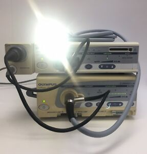 Olympus Visera System W s7 Processor clv s40 Light Source And Laparoscope A4941a