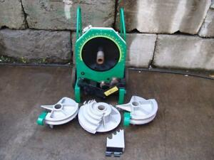 Greenlee 555 Hydraulic Bender 1 2 To 2 Inch Emt Pipe Great Shape New Board
