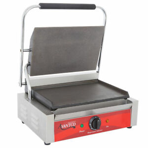 Avantco Commercial Panini Grill Press Restaurant Maker Sandwich Electric Cooking