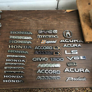 Honda Acura Civic Lx 1300 Cvcc Accord Emblem Lot Ls Si V6l