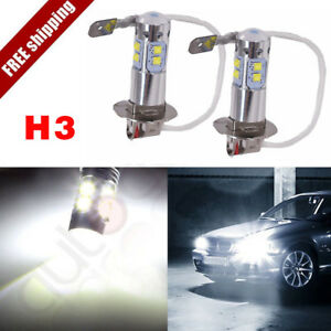 2x Hid White H3 200w Cree Led Fog Light Driving Bulb Drl For Subaru Cadillac Kia