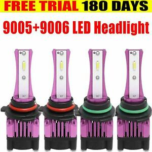 9005 9006 Led Headlight Bulbs For 2001 2006 Chevy Silverado Gmc Sierra 1500 2500
