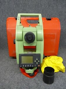 Leica Tcr307 Total Station For Surveying W New Battery Charger
